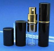 Black Metal Atomizer - 1/3oz / 10mL