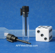Vial Glass with Black Cap and Applicatior