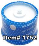 Spin-X DVD-R 4.7GB 8X White Inkjet Hub Printable, 100-Pack