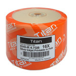 Titan DVD-R 4.7GB 16X Silver Inkjet Hub Printable, 100-PK (T6891190)