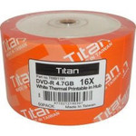 Titan DVD-R 4.7GB 16X White Thermal Hub Printable, 100-PK (T6891191)