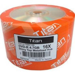 Titan DVD-R 4.7GB 16X Shiny Silver, 100-Pack (T6891188)