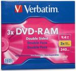 Verbatim DVD-RAM 9.4GB Double Sided 3X Type 4 Cartridge ( 95003 )