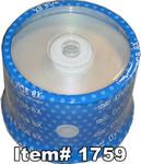Spin-X  DVD-R 4.7GB 16X Silver Inkjet Hub Printable, 100-Pack