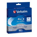 Verbatim Blu-ray BD-R DL 50GB 6X 10pk Spindle Box (97335)
