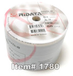 Ritek RiData DVD-R 4.7GB 8X Silver Matte, 100-Pack
