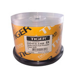 Tiger DVD+R DL 8.5GB 8X White Inkjet Hub Printable, 50-Pack (TGDLWIC50)