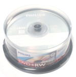 PHILIPS DVD+RW 4.7GB 4X BRANDED, 25-PACK