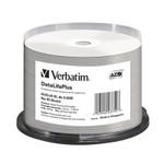 Verbatim DVD+R DL 8.5GB 8X White Thermal Hub Printable,  50-Pack