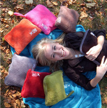 Lug Nap Sac Inflatable Travel Pillow + Blanket