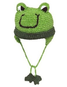 San Diego Hat Co. GREEN FROG Baby Bonnet Cap 6-12 Months