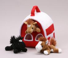 Unipak Plush HORSE FINGER PUPPET ANIMAL HOUSE toy