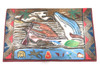"""Hawaiian Scene"" Wooden Relief 20"" X 16"" - Hand Carved/Painted   #dpt521950"