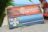 """""""SUNSET BEACH"""" SURF PANEL 15"""" X 12"""" CARVED/PAINTED- SURF DECOR"""