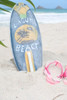 """LAGUNA BEACH"" SURF SIGN W/ FIN 14"" - SURFING DECOR"