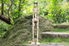 "SKELETON STATUE 40"" CROSSBONES - HALLOWEEN DECOR"