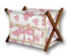 CANVAS MAGAZINE BASKET - PINK - OFFICE DECOR