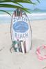 """SUNSET BEACH"" SURF SIGN W/ FIN 14"" - SURFING DECOR"