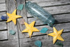 "HANGING ""STARFISH"" SET OF 3 - YELLOW COASTAL - COASTAL DECOR"