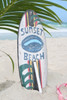 """SUNSET BEACH"" SURF SIGN W/ FIN 20"" - SURFING DECOR"