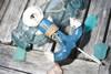 """ANCHOR"" DOOR HOOK - BLUE COASTAL 6"" - COASTAL DECOR"