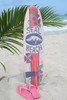 """SEAL BEACH"" SURF SIGN W/ FIN 40"" - SURFING DECOR"