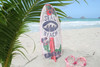 """SEAL BEACH"" SURF SIGN W/ FIN 20"" - SURFING DECOR"