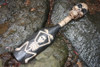 """SKULL & BONES "" W/ SKELETON OAR/PADDLE - HARLEY DAVIDSON SKULL DECOR"