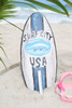 """SURF CITY, USA"" SURF SIGN W/ FIN 14"" - SURFING DECOR 2"