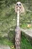 """SKULL & BONES "" W/ AFRO OAR/PADDLE - HARLEY DAVIDSON SKULL DECOR"