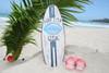 """SURF CITY, USA"" SURF SIGN W/ FIN 20"" - SURFING DECOR 2"