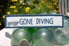 """GONE DIVING"" NAUTICAL SIGN 12"" BLUE - BEACH DECOR"