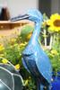 """""""HERON BIRD"""" - RUSTIC BLUE COASTAL 14"""" - GARDEN/HOME DECOR"""