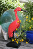 """HERON BIRD"" - RUSTIC RED COASTAL 14"" - GARDEN/HOME DECOR"