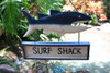 """Surf Shack"" Shark Attack Sign Tiki Bar - Surf Decor 