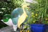 """""""EGRET BIRD"""" - RUSTIC YELLOW COASTAL 14"""" - GARDEN/HOME DECOR 3"""