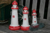 "SET OF 3 ""LIGHTHOUSES"" - RUSTIC RED & WHITE NAUTICAL - NAUTICAL DECOR"