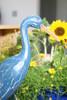 """EGRET BIRD"" - RUSTIC BLUE COASTAL 14"" - GARDEN/HOME DECOR 4"