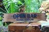 """Open Bar Tomorrow"" Sign - 20"" - Tiki BarDecor"