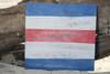 """C"" NAUTICAL RUSTIC FLAG 8' X 8' - WOOD PANEL - NAUTICAL DECOR"
