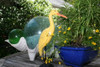 """EGRET BIRD"" - RUSTIC YELLOW COASTAL 14"" - GARDEN/HOME DECOR 4"