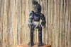 "PRIMITIVE HEAD HUNTER W/ STICK 20"" - TRIBAL TIKI DECOR"