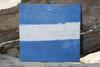 """J"" NAUTICAL RUSTIC FLAG 8' X 8' - WOOD PANEL - NAUTICAL DECOR"