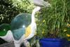 """""""EGRET BIRD"""" - RUSTIC YELLOW COASTAL 14"""" - GARDEN/HOME DECOR 5"""