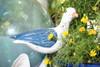 """""""SEAGULL BIRD"""" - RUSTIC BLUE COASTAL 14"""" - GARDEN/HOME DECOR 3"""