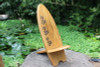 LONGBOARD SURF CHAIR HIBISCUS CARVINGS - POOL DECOR
