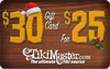 $30.00 Gift Card For $25.00