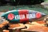 """""""Kailua Beach"""" Shark Bite Surf Sign - 20"""" - Beach Decor"""