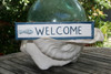 """WELCOME"" NAUTICAL SIGN 12"" BLUE - BEACH DECOR"
