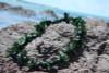 Large Kukui with 3-Point Leaf Black/Green - Silk Hawaiian Leis